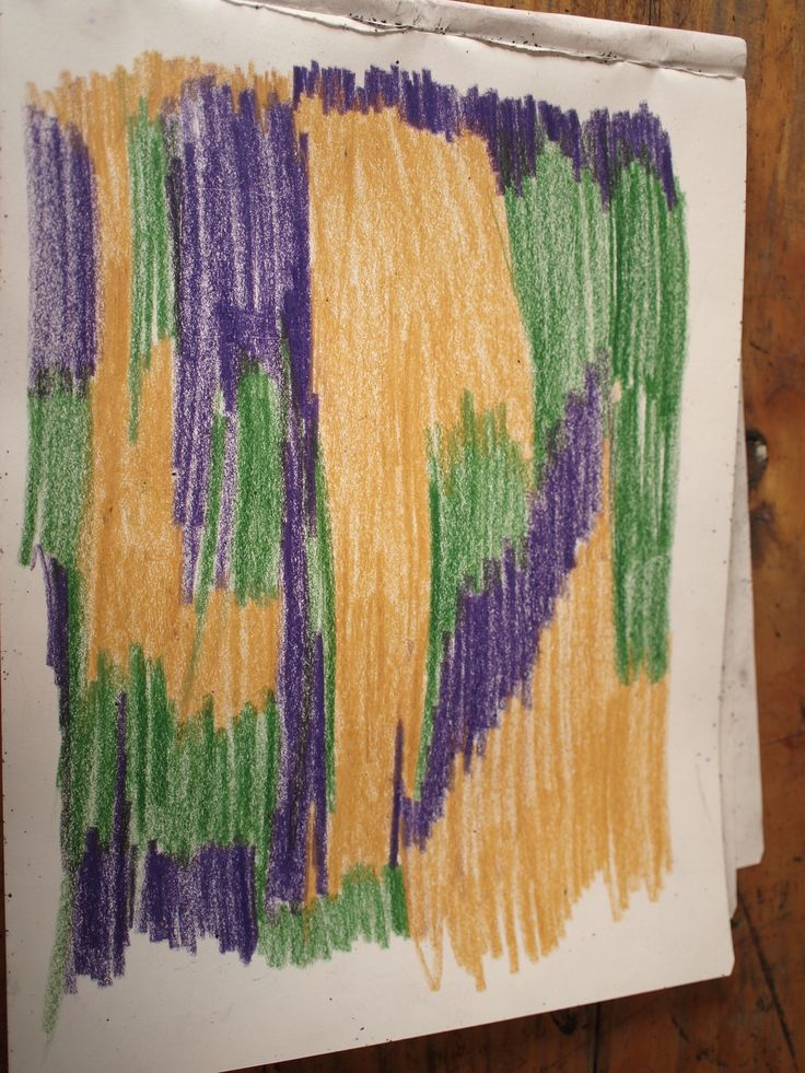 Steiner pencils are great for crayon scratch back drawings
