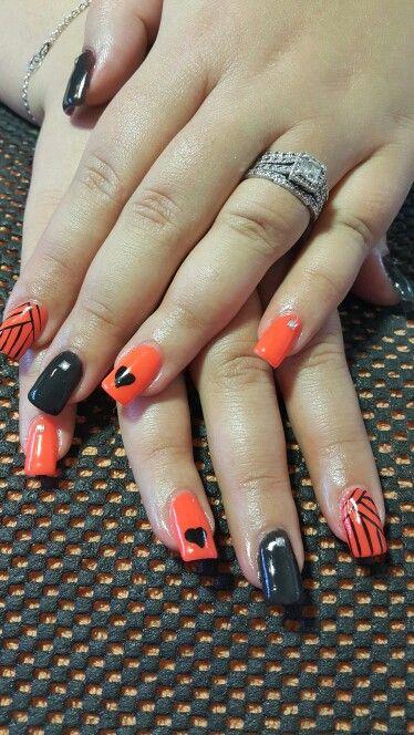 Orange and black gel art