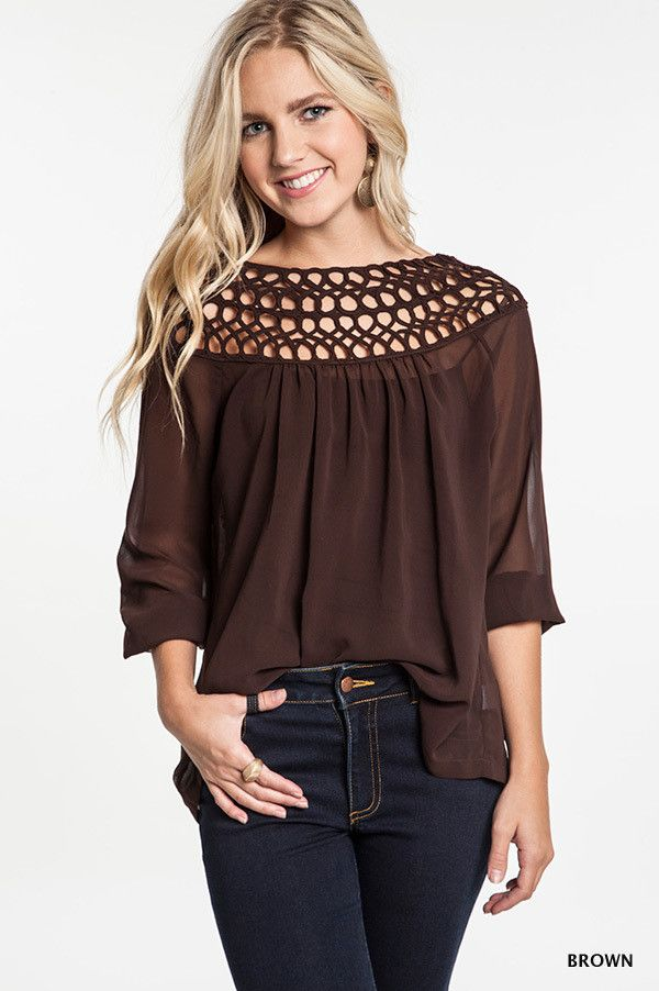 Braided Boat Neck Tunic Top - Four Colors Available