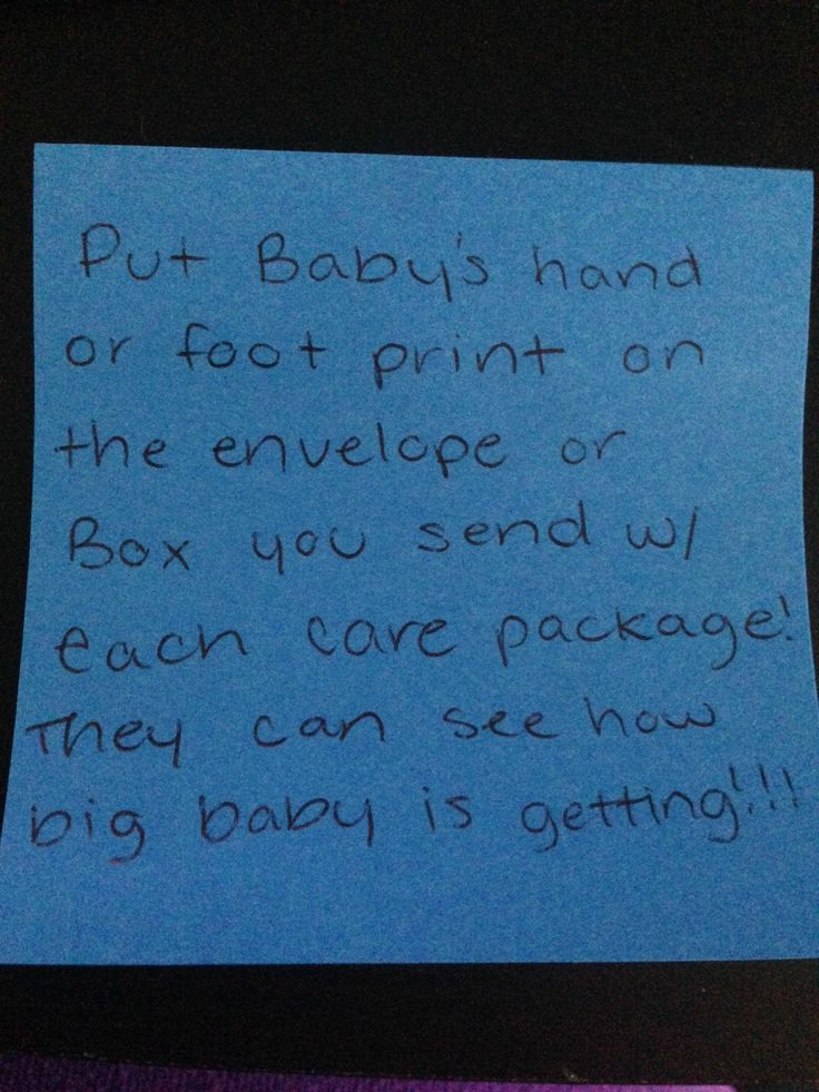 Care package idea with baby.  <3 it! ~~ MilitaryAvenue.com