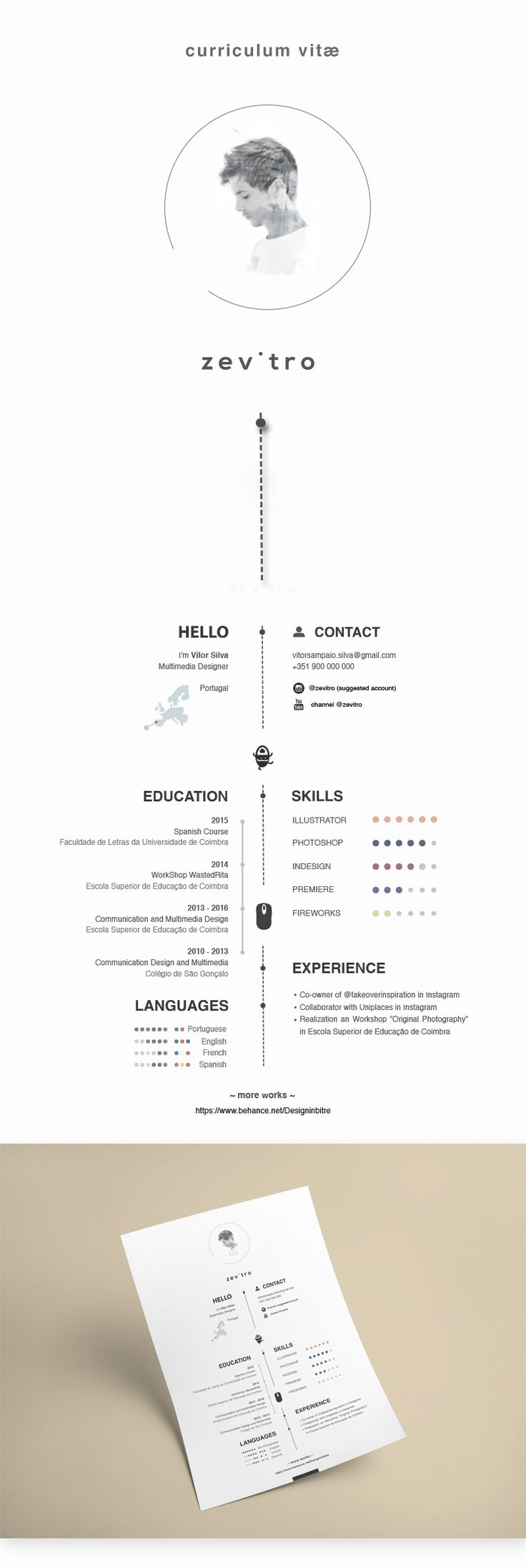 Best Cv Design Images On   Resume Curriculum And