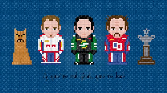 Talladega Nights: The Ballad of Ricky Bobby Movie Characters - Digital PDF Cross Stitch Pattern