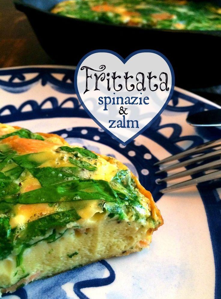 Het eerste recept van 2015 staat online! Frittata met spinazie en zalm. S U P E R lekker! — Peachy Paleo