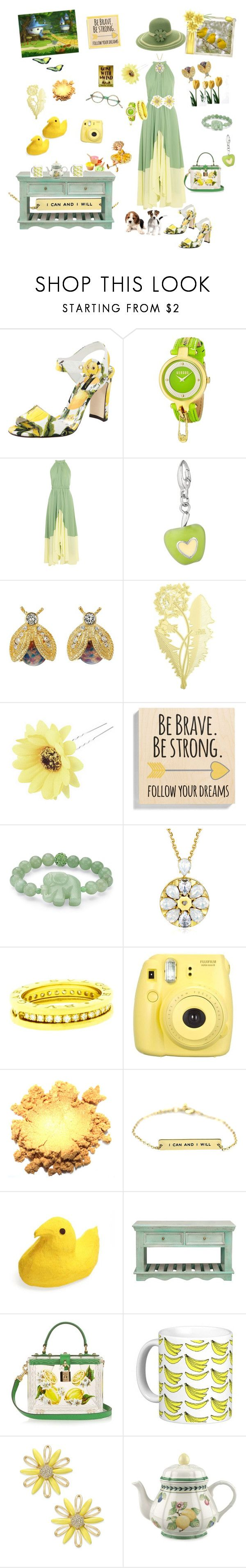 """""""Come to Our Garden Party"""" by harts2raines ❤ liked on Polyvore featuring Dolce&Gabbana, Versus, Saloni, Kenneth Jay Lane, Tom Dixon, Chicnova Fashion, Someday Inc., Palm Beach Jewelry, Bulgari and Fujifilm"""