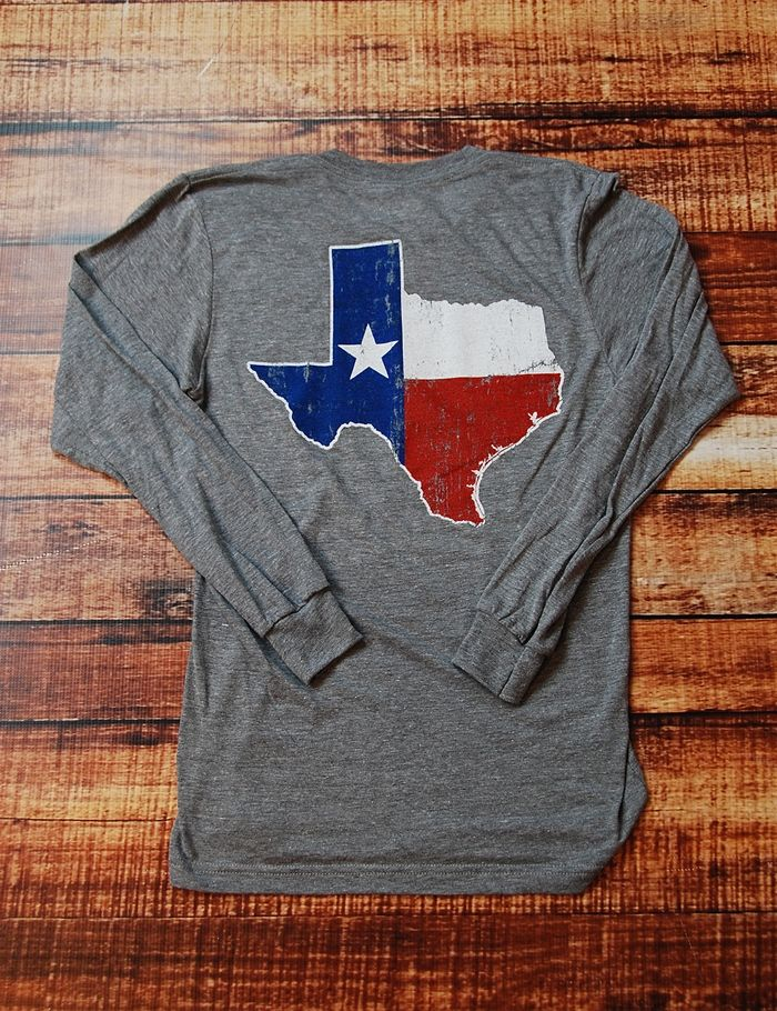 There is nothing like being Texas Proud. Show your love for the Lone Star State in this soft long-sleeve t-shirt!