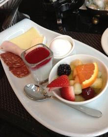 Desayuno continental en Hotel Sofitel de Montreal, Canadá. Precioso!