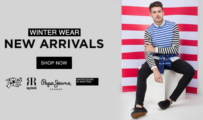 Winter Wear New Arrivals  on November 16 2016. Check details and Buy Online, through PaisaOne.