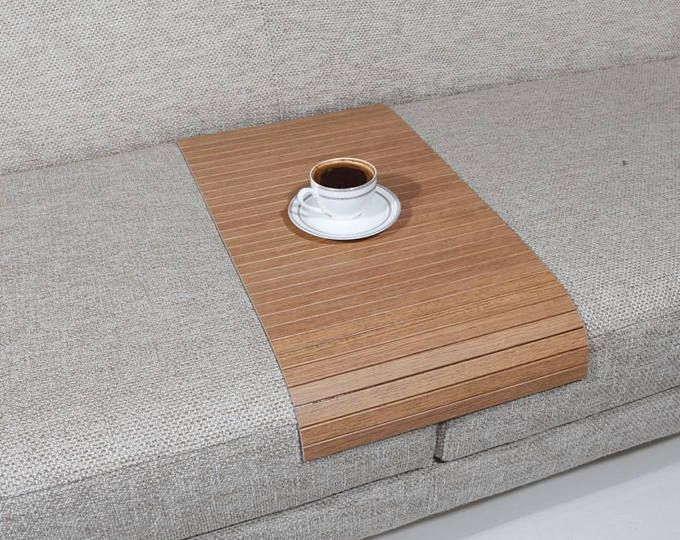 Sofa Tray Table Natural Sofa Arm Tray Unique Gift Idea Small Spaces Wooden Coffee Table Tray Table Wood End Table Sofa Table Natural Sofas Sofa Arm Table Wood End Tables
