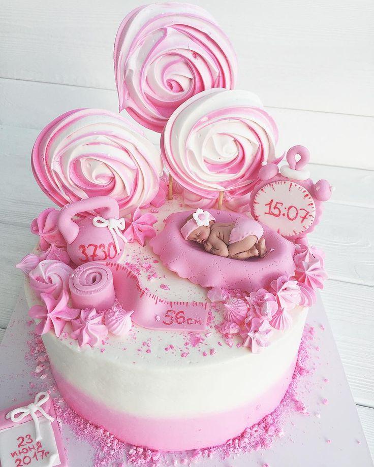 Торт на выписку из роддома !! Торт для малышки и Ее мамочки !!! • • • • По вопросам стоимости и заказу, пишите в вотсап или вконтанте!!! 89137844442 • •…