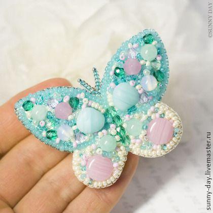 """Брошь """"Весенняя бабочка"""". Handmade."""
