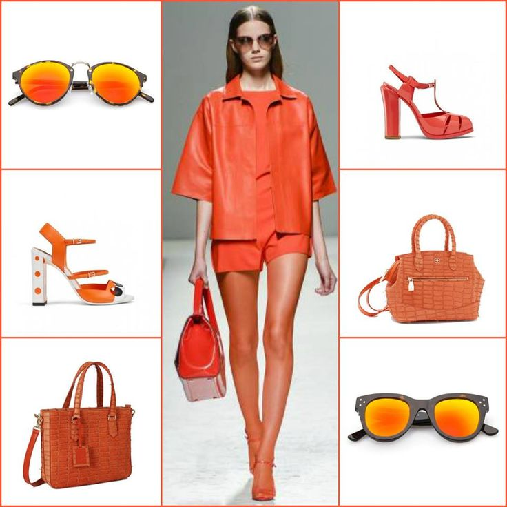 Lots of orange in the s/s collections: look by Max Mara, sunglasses by Spektre, sandals by Fendi and bags by Desmo Bags available on: stylenovo.com