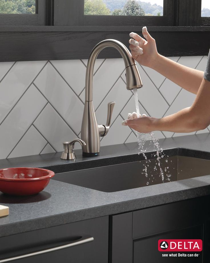 With Delta Touch2o Technology One Simple Tap Can Turn Your Faucet On Or Off Kitchen Faucet Kitchen Technology Home Technology