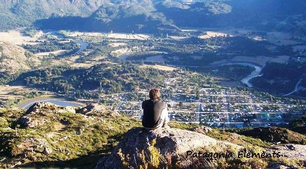 View of the town of Futaleufu from the North. Trekking with | from Patagonia Elements: http://www.patagoniaelements.com/trekking