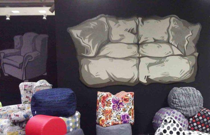 Poofomania#Furnidec business#athens interior show 2013#bean bags#pouf#