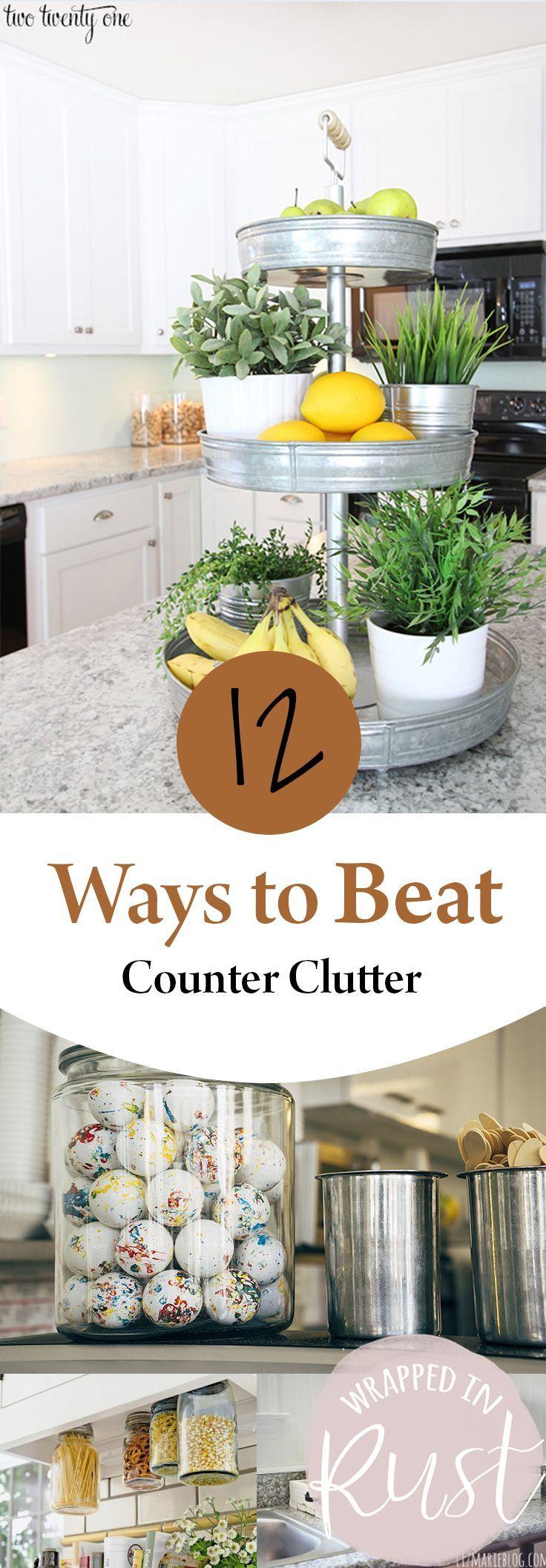 organize kitchen office tos. 12 Ways To Beat Counter Clutter Organize Kitchen Office Tos
