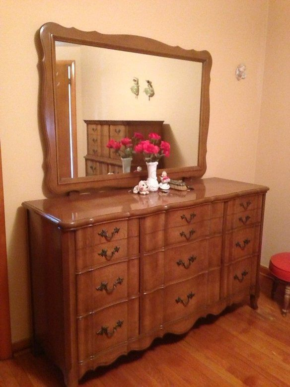 Check it out! FRUIT CHERRY WOOD BEDROOM SET in Garfield Ridge, Chicago on Krrb!