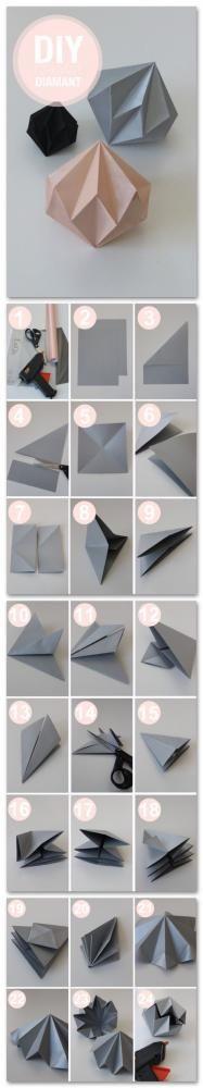 折り紙ダイヤモンドオーナメントの作り方