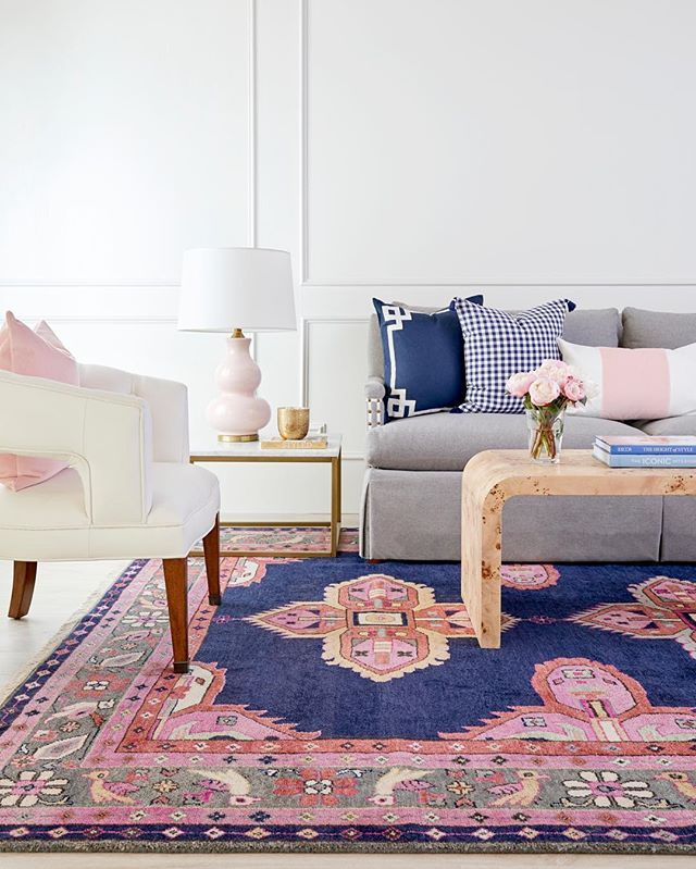 It S No Surprise That Our Navy Kismet Rug Always Leaves Our Customers Wanting More It S Striking Beauty An Living Room Carpet Guest Bedroom Design Navy Decor #navy #rug #living #room