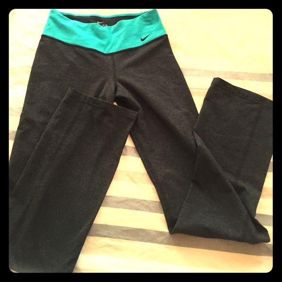 nwot Nike yoga pant stretch straight leg dark grey Nike yoga pants size small s Nike Pants Track Pants & Joggers