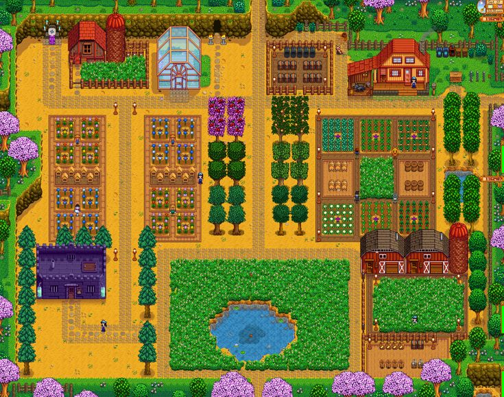 Image result for stardew valley farm layout