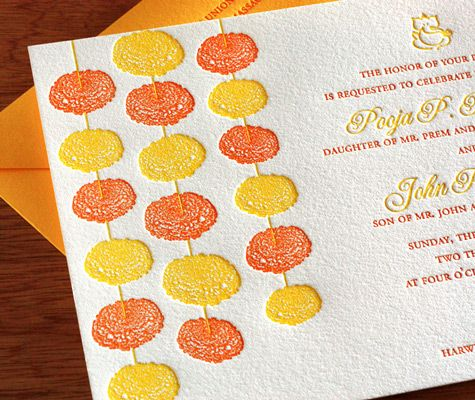With such bright and vibrant colors, we really couldn't think of an invitation better than Marigold for festive summer affairs.