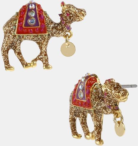 Glittering Camel Earrings    http://www.lyst.com/pooppeepuke/