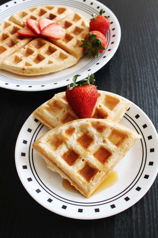 Eggless Waffle Recipe – Vegan Waffles good website with lots of eggless recipes!!