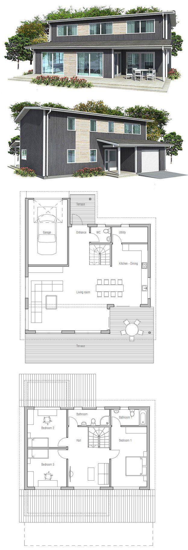 Grundrisse home interior design moderne grundrisse bodengestaltung haus design kleines haus pläne kleine häuser moderne architektur garage