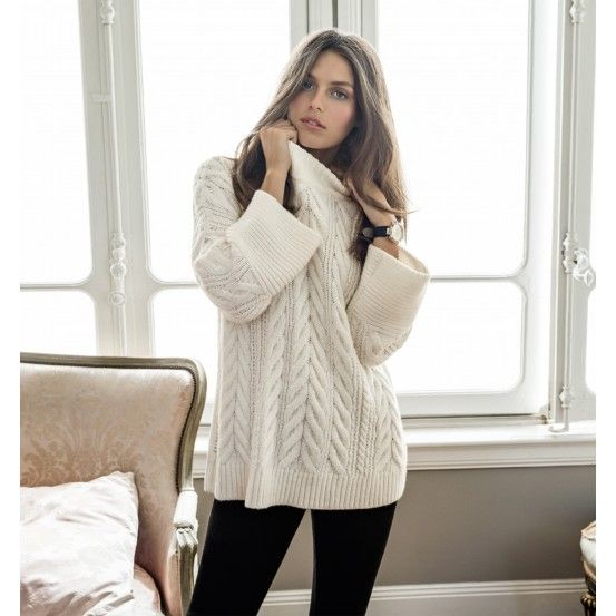 Tia Wide Sleeve Cable Knit Jumper