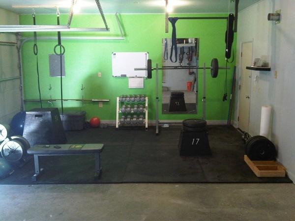 home gym - garage