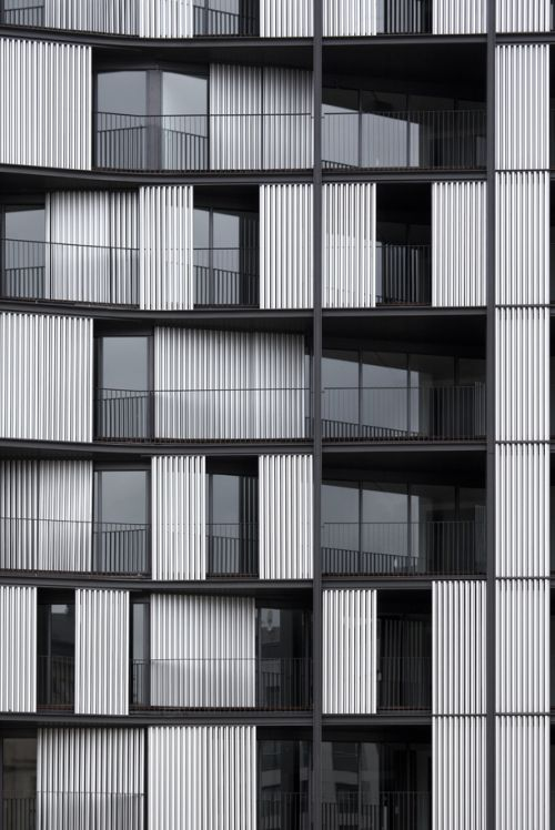 2 Apartment Buildings in Bilbao by OAB Barcelona Respecting historicist criteria on the delimitation of the nineteenth century elliptical square, the project takes on a contemporary quality producing a building front in the Plaza de Euskadi. By means...