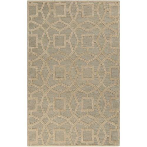 Surya DST1170-913 Dream 9' x 13' Rectangle Wool Hand Tufted Geometric Area Rug - gray