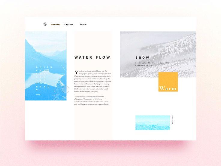 Blue Pool by yhmnin via Muzli design inspiration