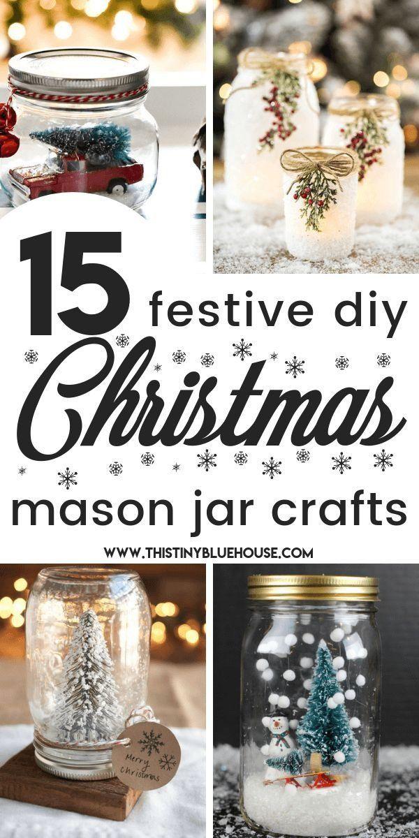 15 Best Easy Mason Jar Christmas Craft Ideas 1000 In 2020 Mason Jar Christmas Crafts Christmas Mason Jars Christmas Jars