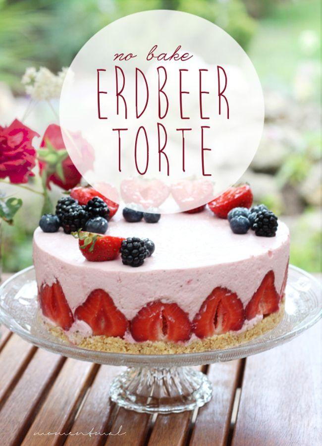 no bake Erdbeertorte