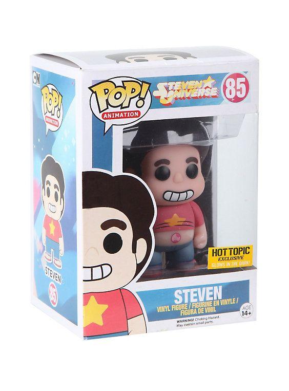 Funko Steven Universe Pop! Animation Glow-In-The-Dark Steven Vinyl Figure Hot Topic Exclusive,