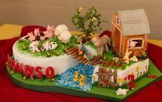 Torta de animales dela granja - Imagui