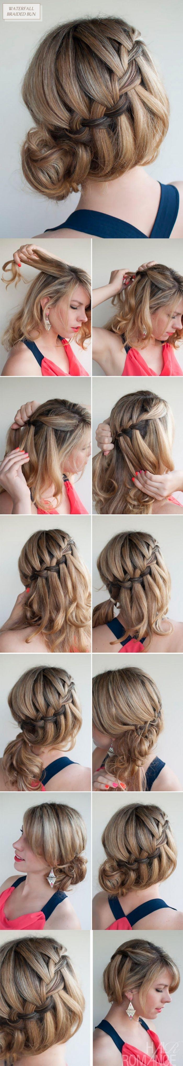 Плетение косы «Французский водопад»  → Пошаговая инструкция