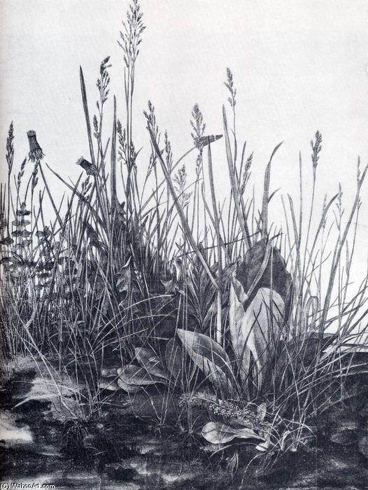 Acheter Tableau 'Grande pièce d étude de gazon des mauvaises herbes' de Albrecht Durer - Achat d'une reproduction sur toile peinte à la main , Reproduction peinture, copie de tableau, reproduction d'oeuvres d'art sur toile