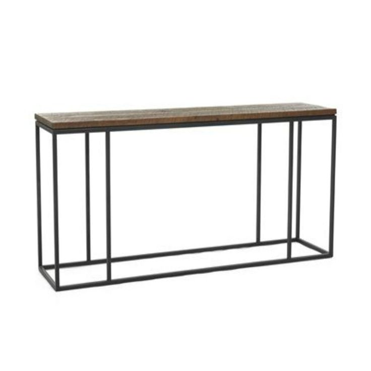 Big sur console table behind sofa against wall parallel to for Sofa table behind couch against wall