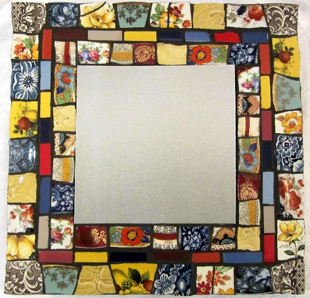 Bright Patchwork Mosaic Mirror