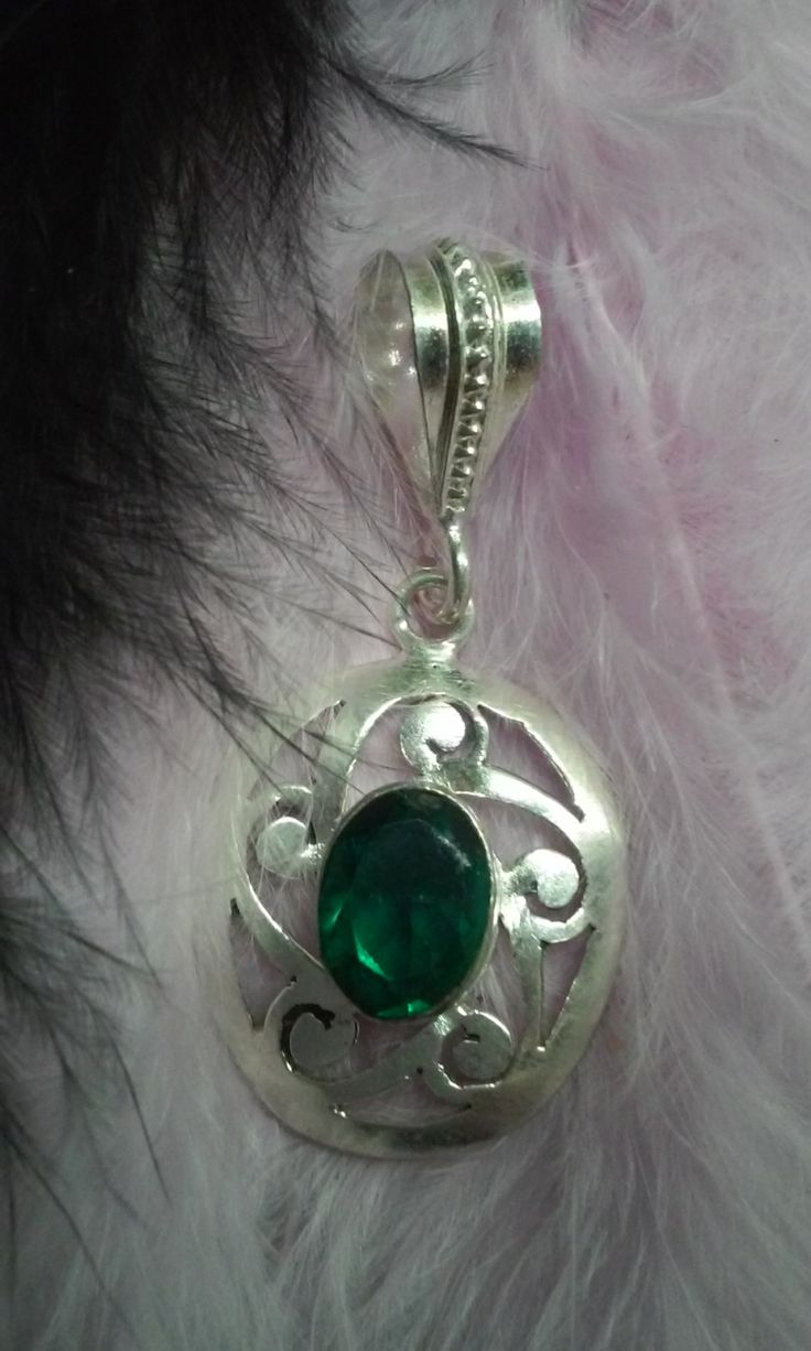 Emerald silver medal by Zsuzsanka on Etsy
