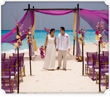 Beach Wedding...kinda like this idea. Maybe because Justin and Rebecca did it on Brothers and Sisters...unhealthily obsessed