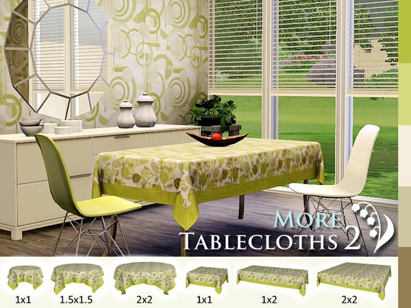 LilyOfTheValley's More Tablecloths 2 *Free*    I've been looking for these! I wish someone would convert them for TS2!
