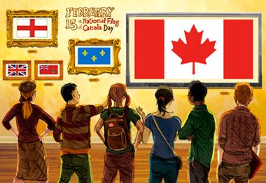 National Flag of Canada Day 15 February - Holidays, Celebrations and Commemorations - Topics