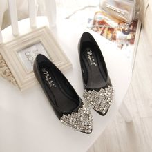 NOUVELLE Mode 2016 Appartements Chaussures Femmes Ballet Princesse Chaussures Pour Casual Cristal Bateau Chaussures Strass Femmes Appartements PLUS LA Taille(China (Mainland))