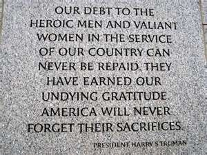 Engraved on the wall of the National World War II Memorial