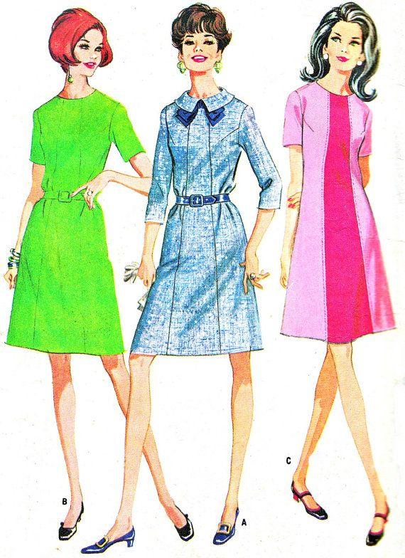 A line dress 1960s fashion