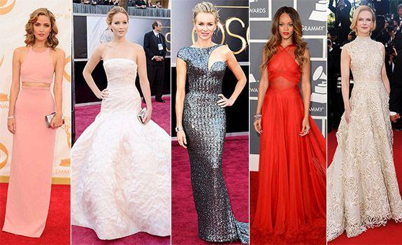 2013 En Şık Kırmızı Halı Elbiseleri