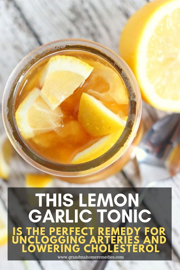 This Lemon Garlic Tonic Is the Perfect Remedy For Unclogging ... on